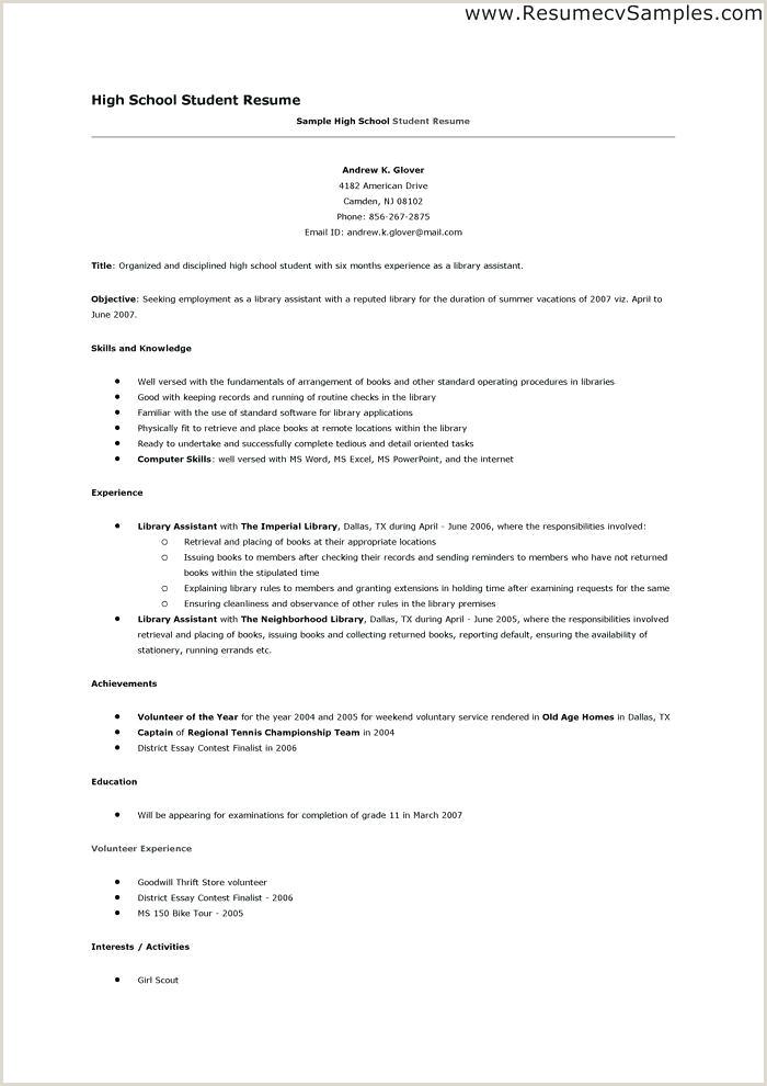Sample Cv For Internship Pdf