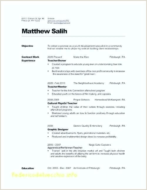 Resume format for Teacher Job Pdf Cv Sample for Fresher Teacher Best English Teacher Resume