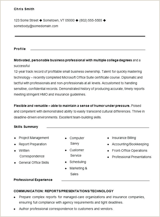 Professional Resume Template For Freshers Professional