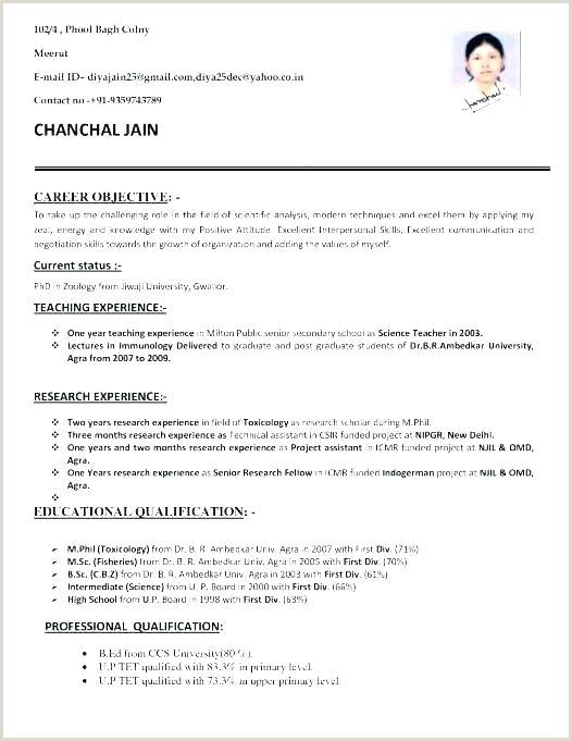Resume format for Teachers Freshers Resume Teaching Job – Johnsimpson
