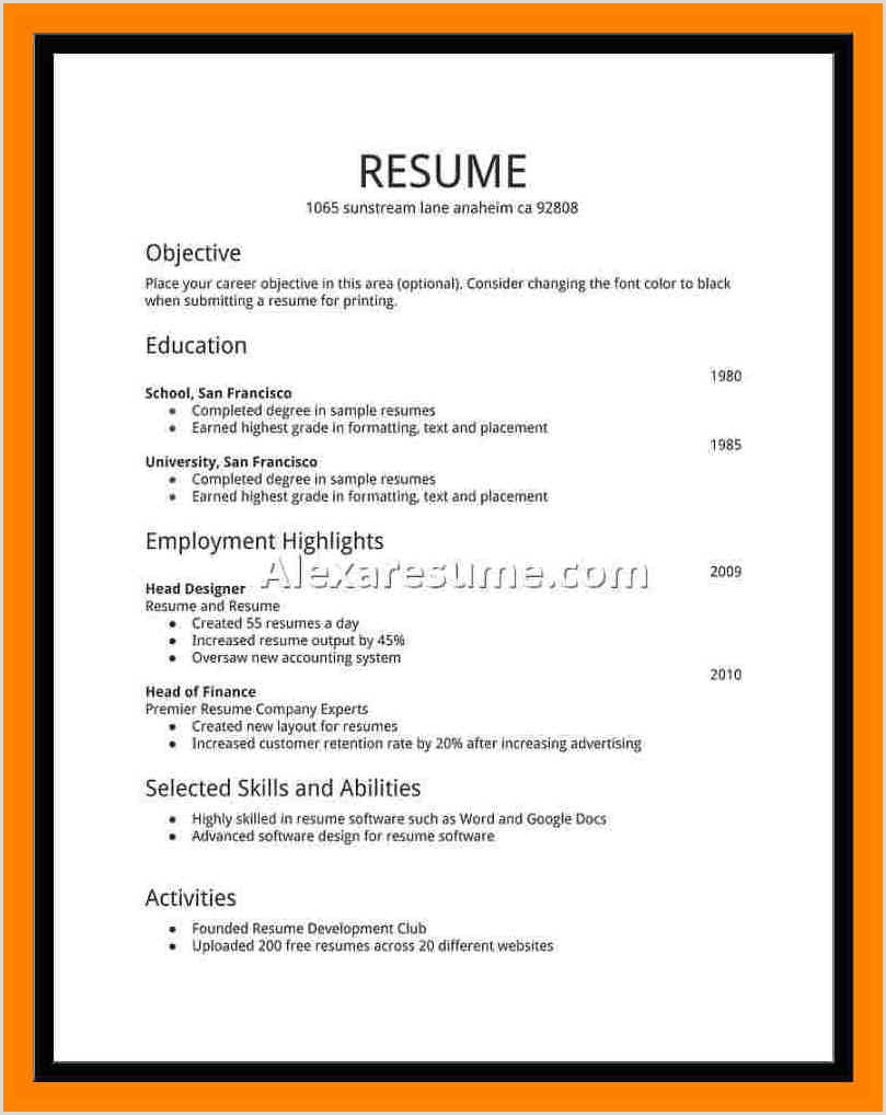High Student Resume Examples First Job Cool Cv Example Uk No