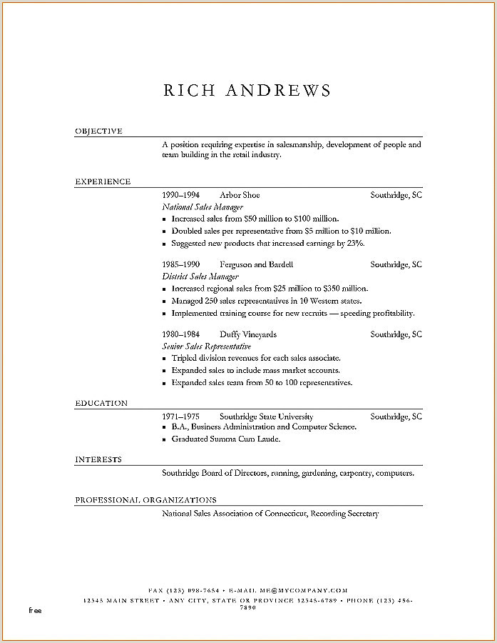 Resume for First Time Job Best First Time Resume Template