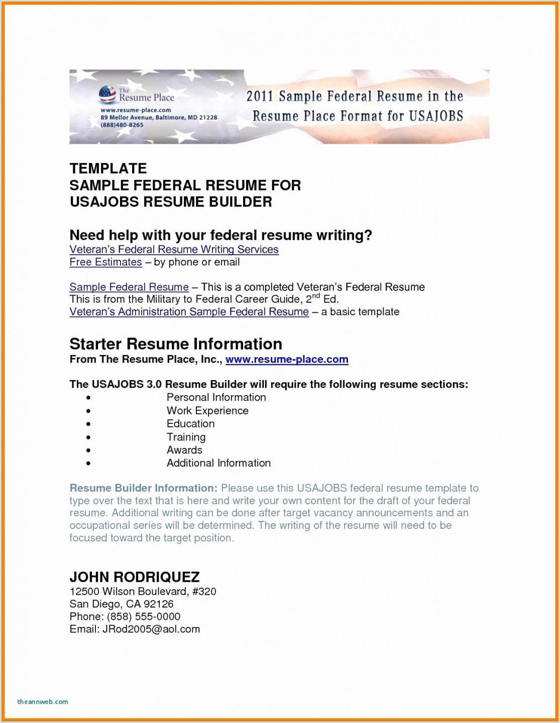 Resume format for Usa Jobs Resume format Usa Jobs