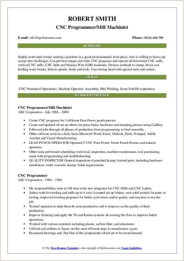 Resume format for Welder Job Cnc Programmer Resume Samples