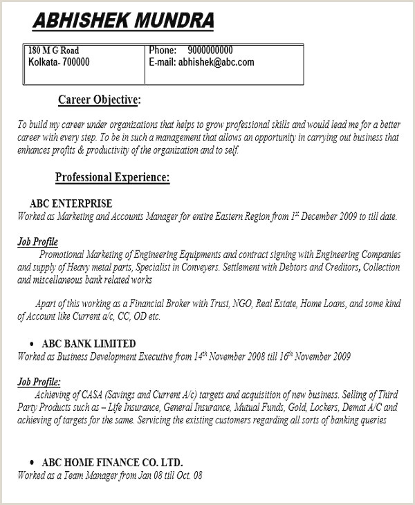 Resume Format Job Vacancy Cc Cv Gratuit How To Write An Objective For A Resume New