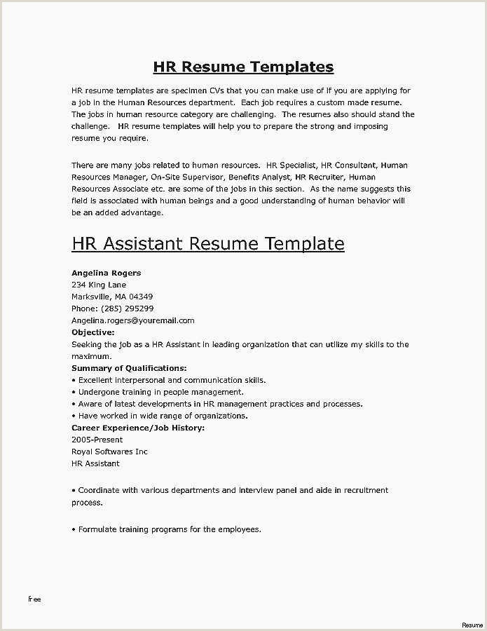 Resume Format Job Vacancy Resume For Jobs Sample Resume Examples For Basic Jobs New
