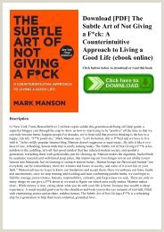PDF] Download The Subtle Art of Not Giving a F ck A