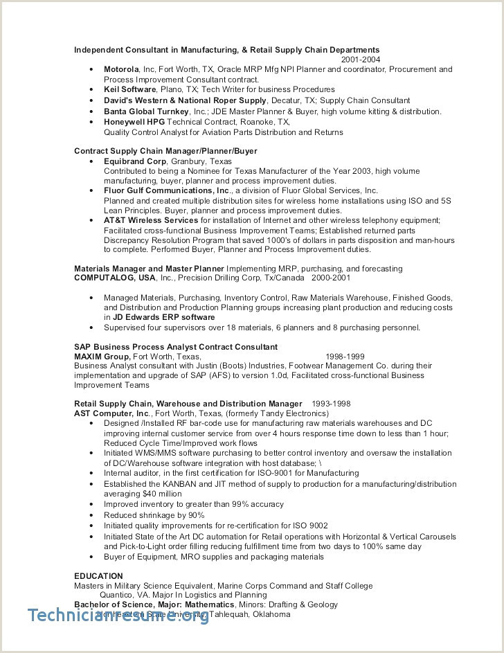 Mba Application Resume Sample