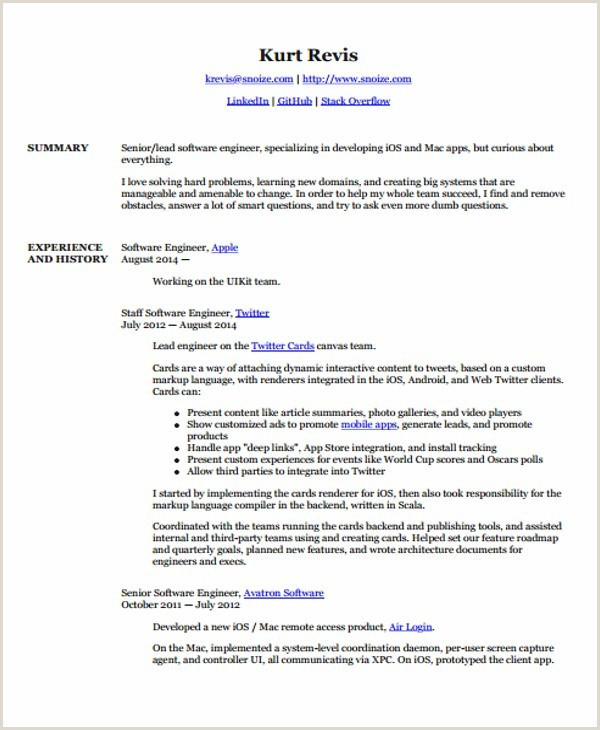 Resume Objective for software Engineer Resume Template software Engineer Free Resume Templates Free