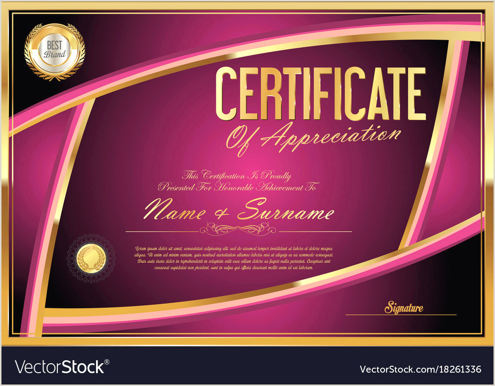 Blank Certificate Templates Simple Certificate Vector Lovely