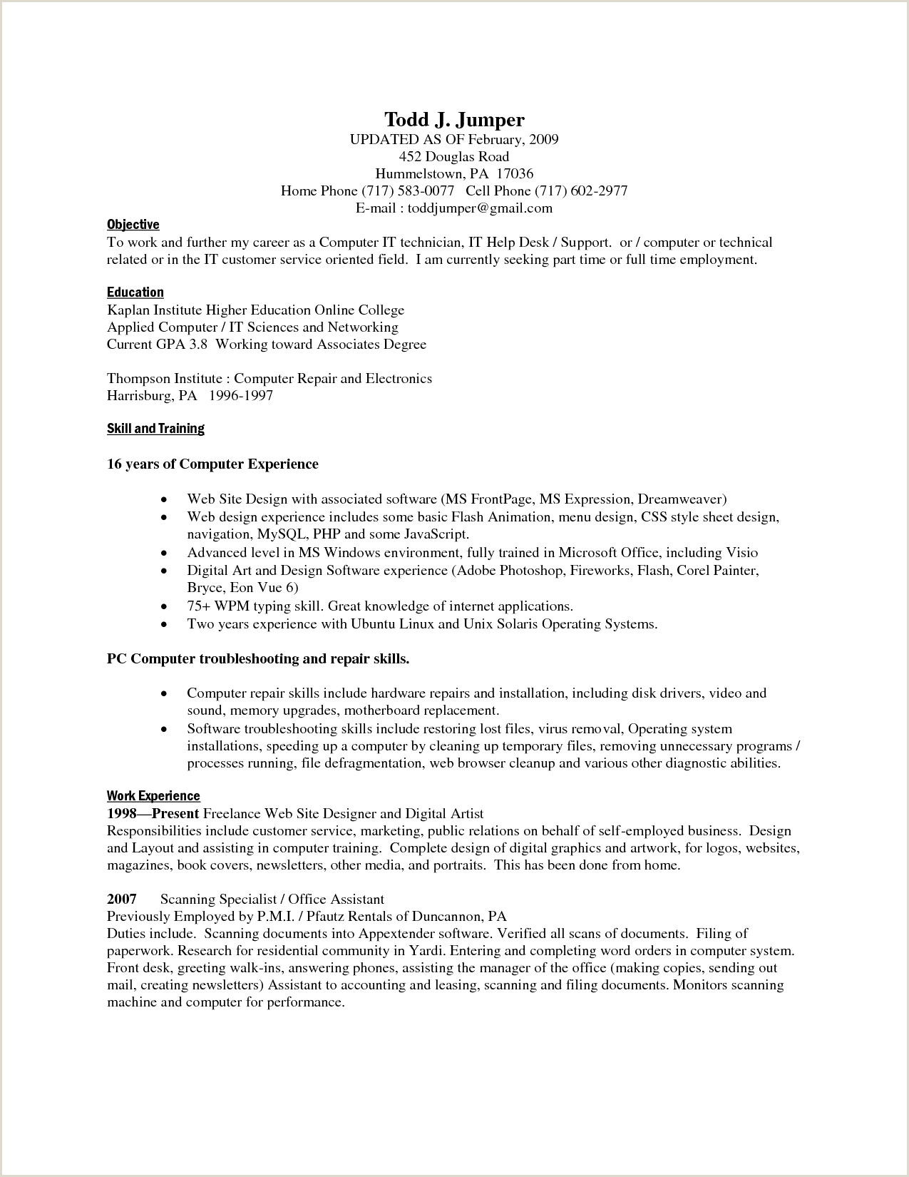 Resume with associates Degree Sample Resume Same Job Different Pany Elegant Resume Sample for
