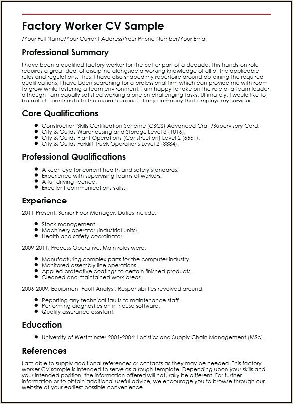 Forklift Driver Resume Template Operator Cv Synonym