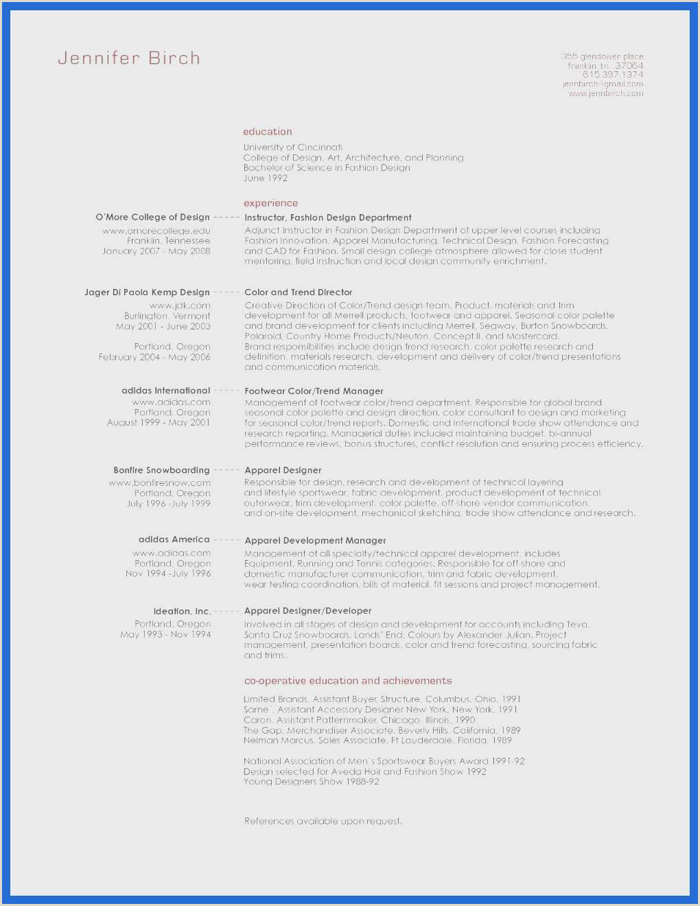 Resumes for Fashion Designers Cv International Collections De 70 How to Write A Resume for