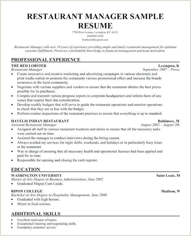 Resumes for Fast Food Fast Food Manager Resume Sample – Growthnotes