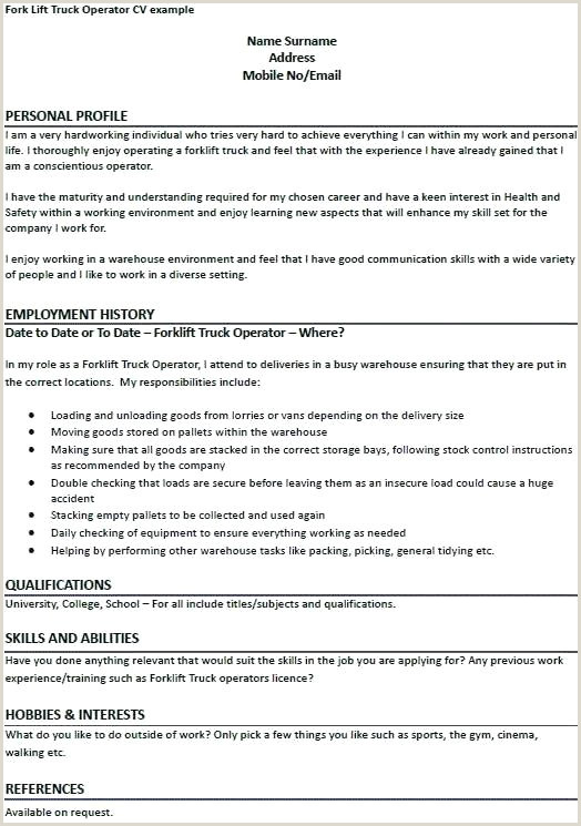Resumes for forklift Drivers forklift Resume Sample – Growthnotes