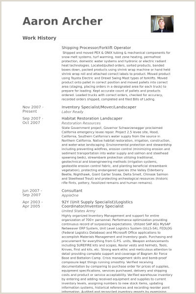 Forklift Resume Samples Examples forklift Resume Samples