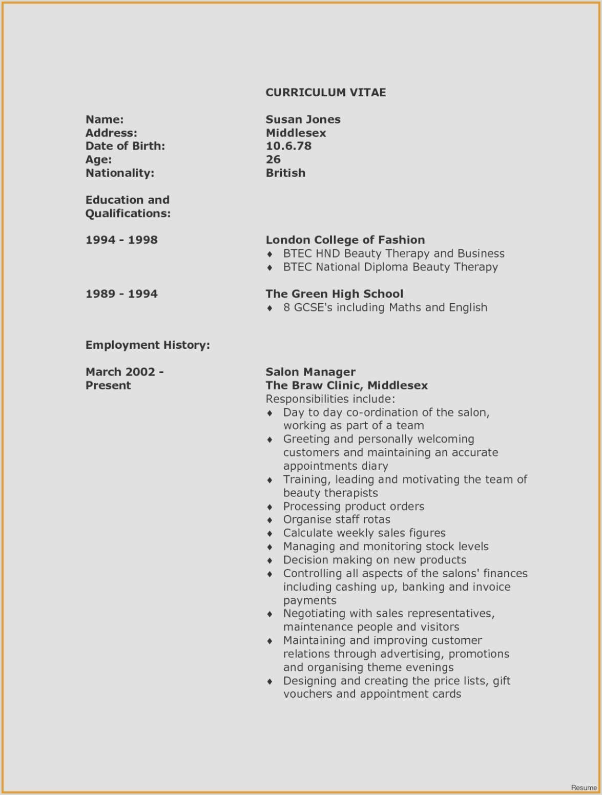 Unique Hvac Engineer Resume