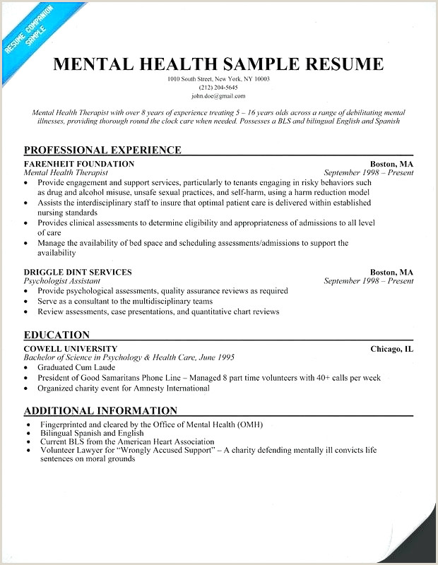 Resumes for Mental Health Counselors Entertaining Functional Resume Sample Resume Design