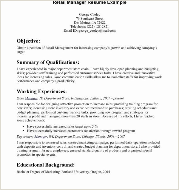 Lovely Examples Retail Resumes – 50ger