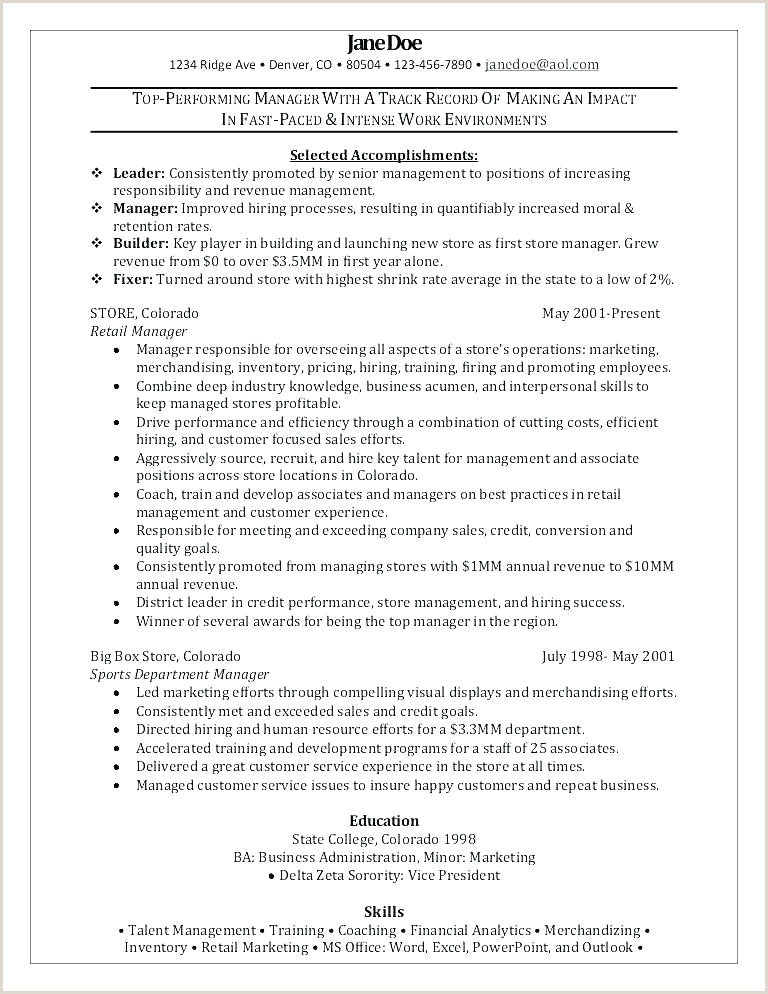 Resume for A Retail Job Beautiful Resume Ready Sample Resume