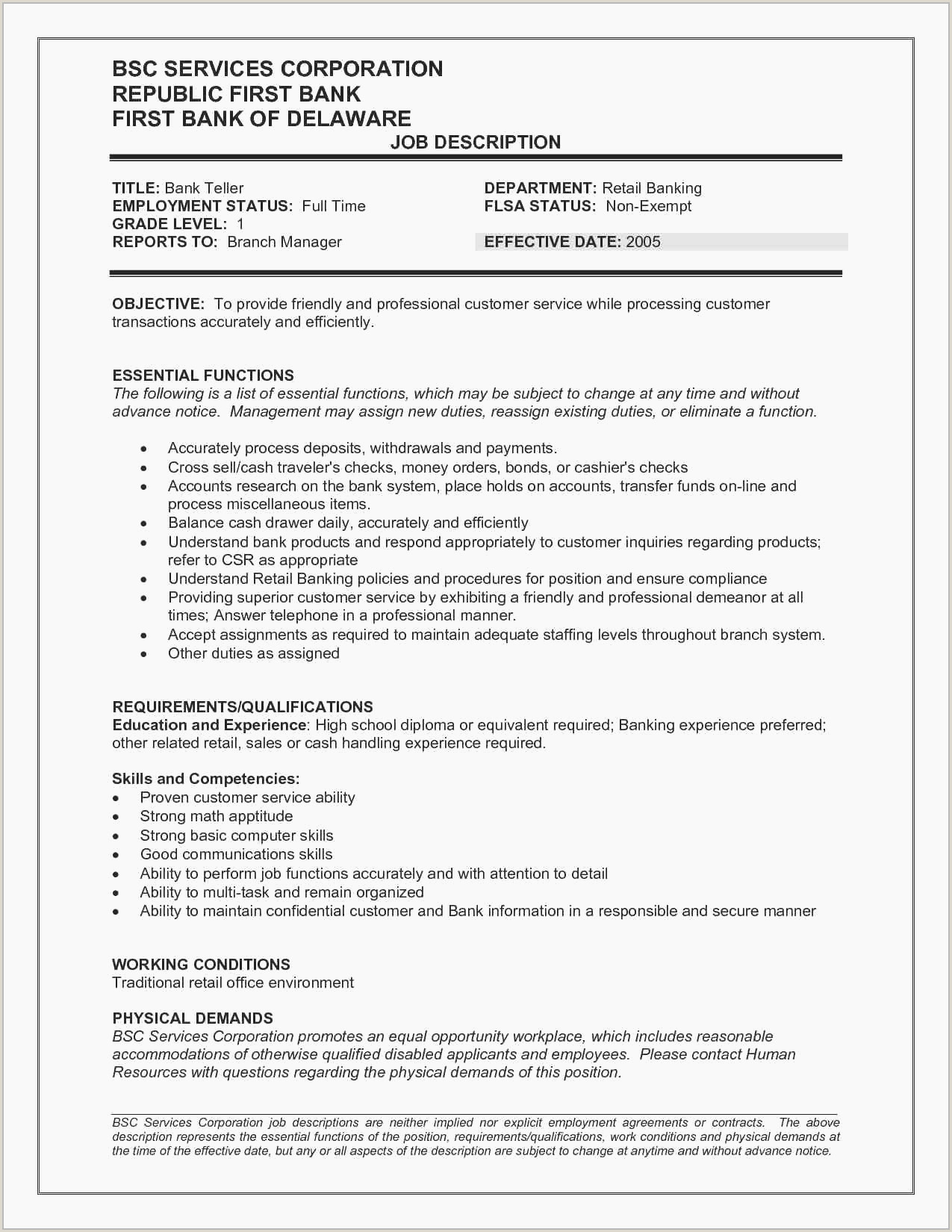 Resume Template for Retail Job Beautiful Resumes for Servers