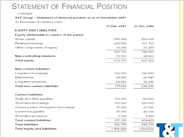 Retained Earnings Statement Template Financial Statements Template Excel In E Statement 1 Ind