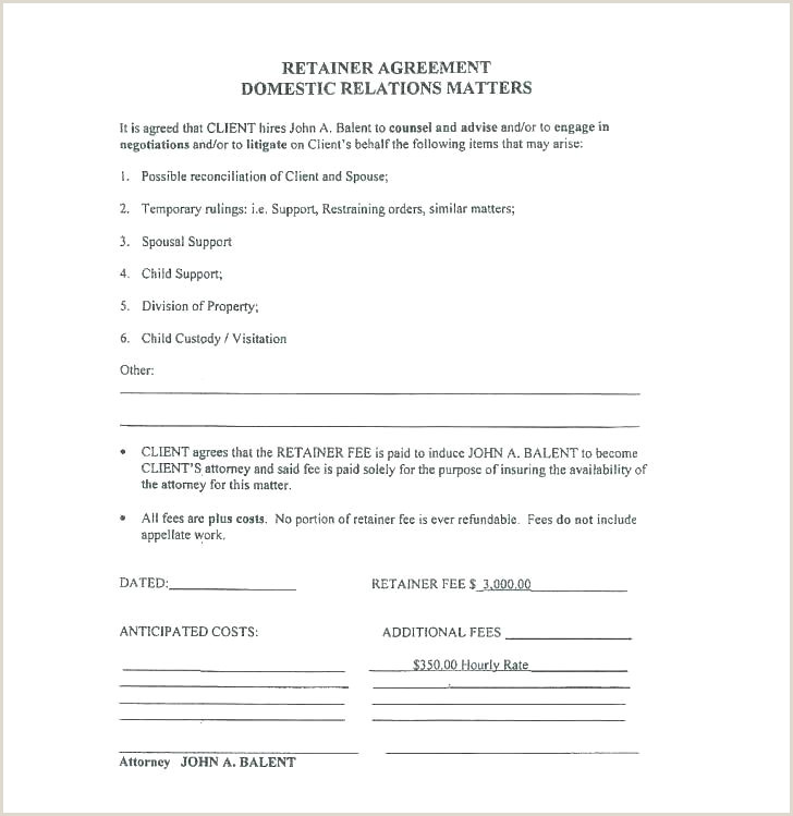 Retainer Fee Agreement Contingency Agreement Template