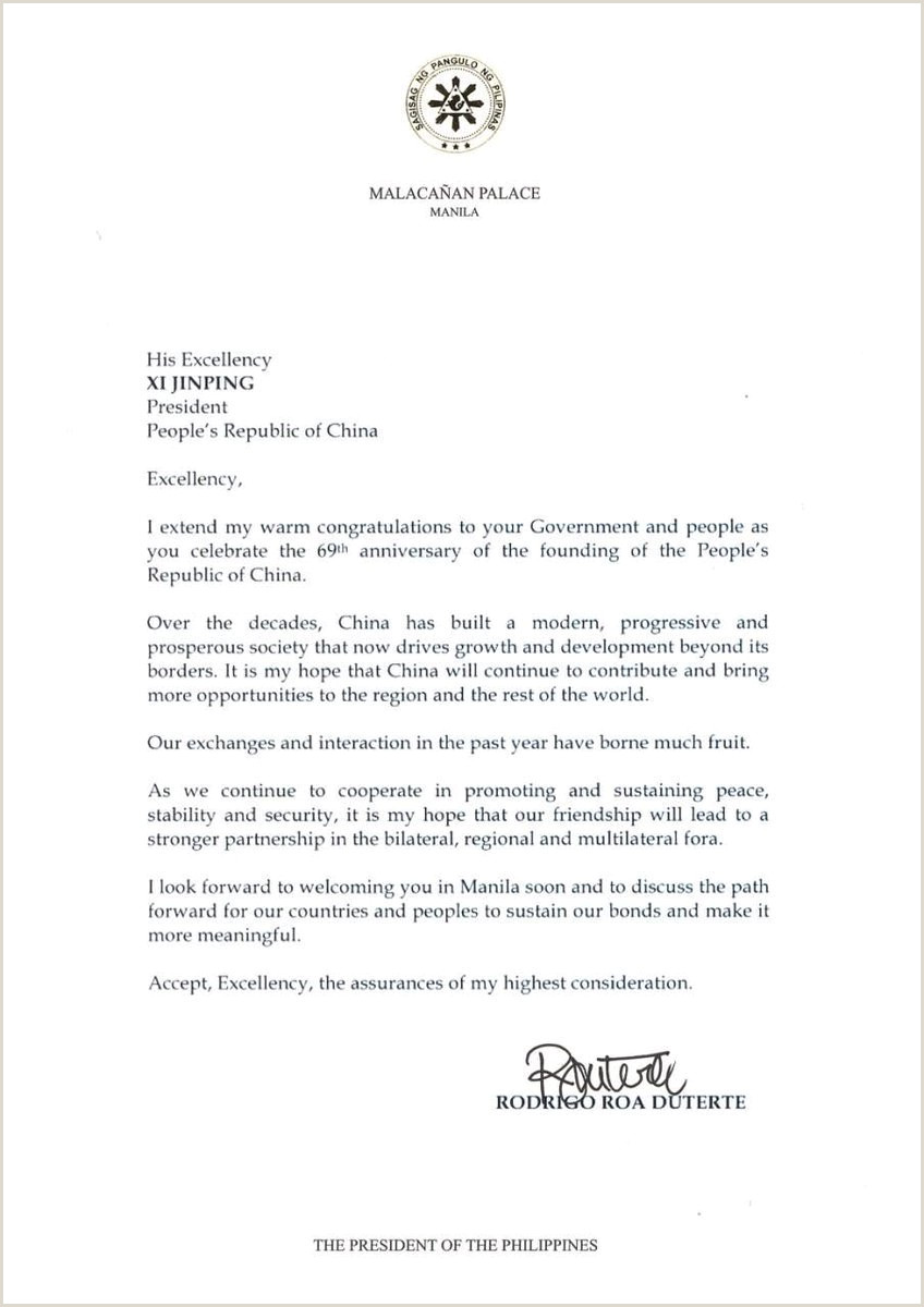 Letter Congratulations