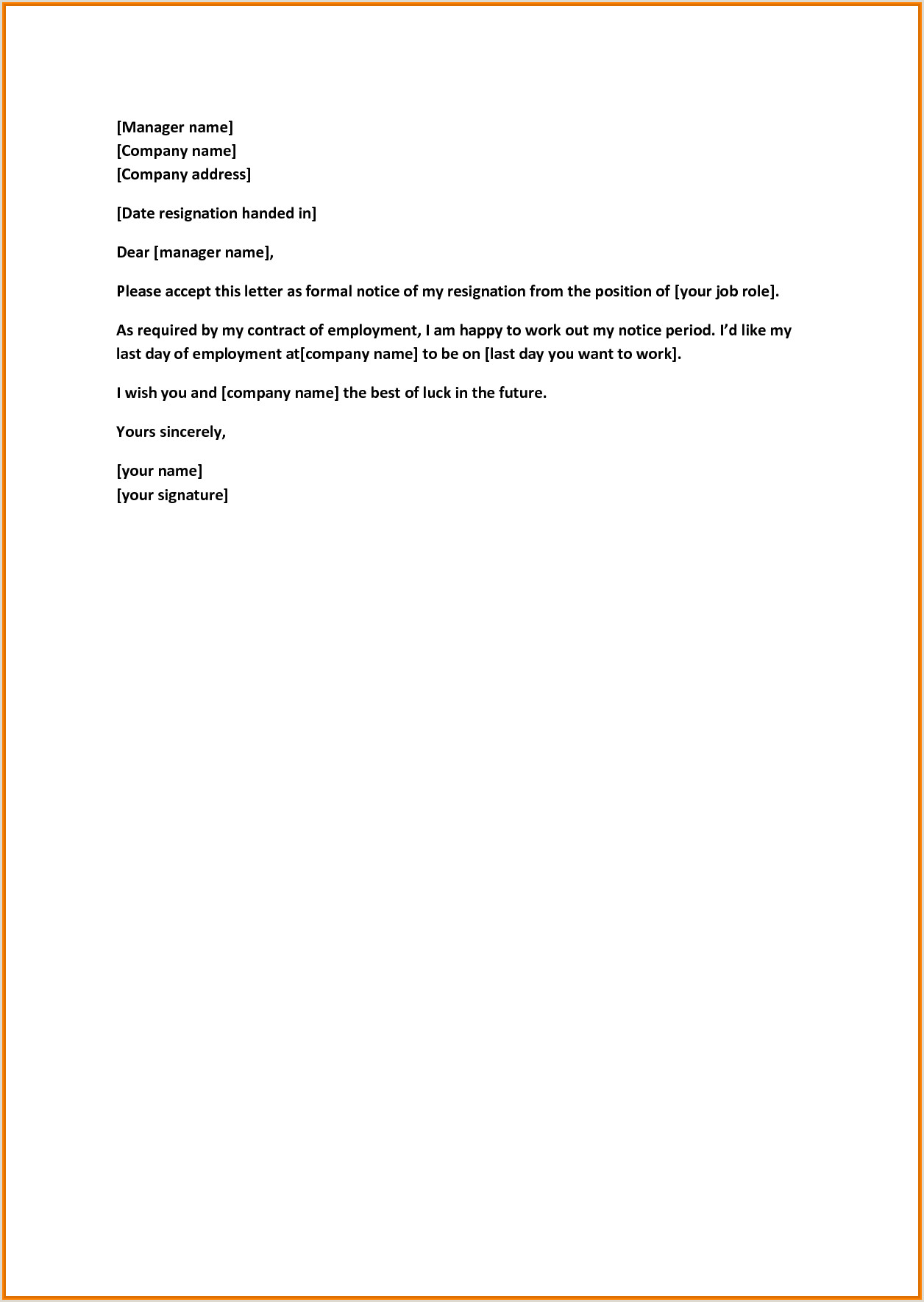 Retirement Letter Sample Retirement Letter to Employer Template Examples