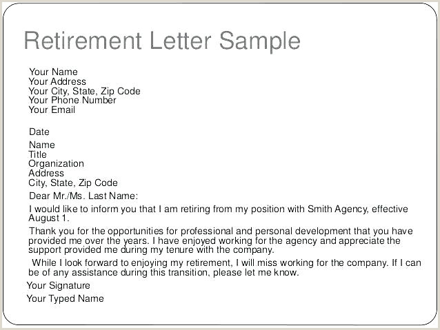 retirement notice letter template