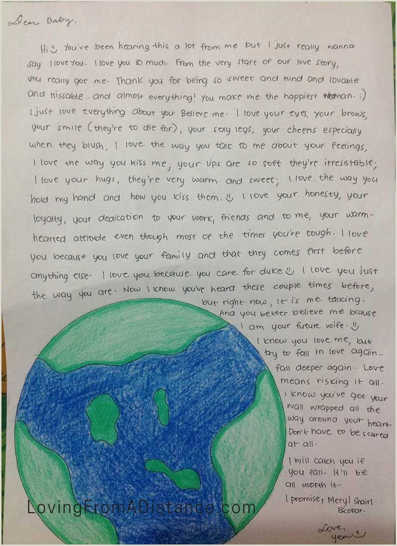 Romantic Letter to Boyfriend Long Distance Relationship Love Letter