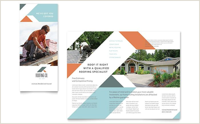 Roofing Flyer Templates Free Roofing Pany Brochure Template Design by Stocklayouts