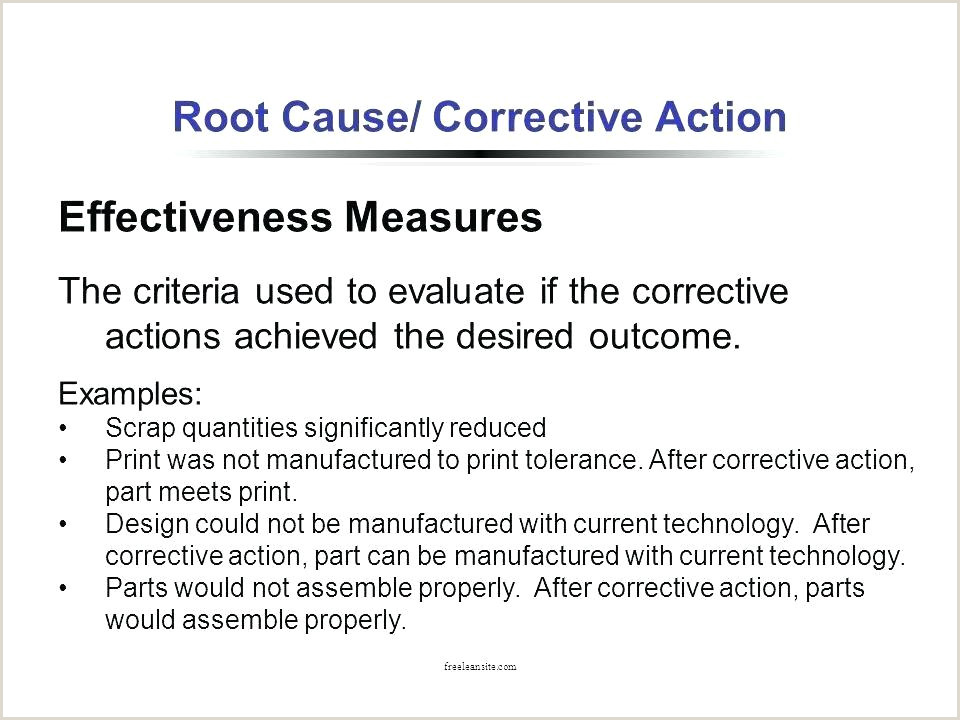 5 Why Tools Format With Corrective Actions Noted Root Cause