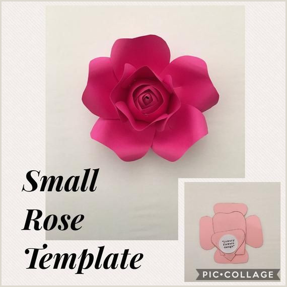Rose Paper Flower Template Pdf Xsmall Rose Template Ideas