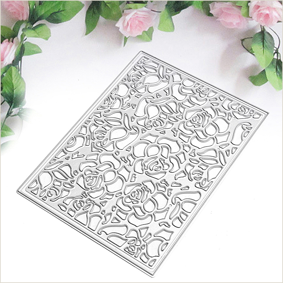 Rose Paper Flower Template Rose Fleur Steel Cutting Dies Scrapbooking Album Paper Cards Craft