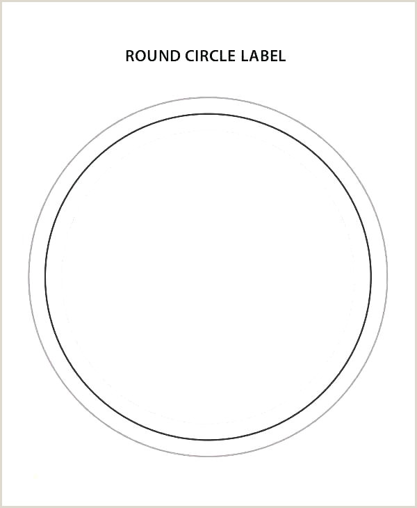 Round Gift Tags Printable Round Printable Labels Template
