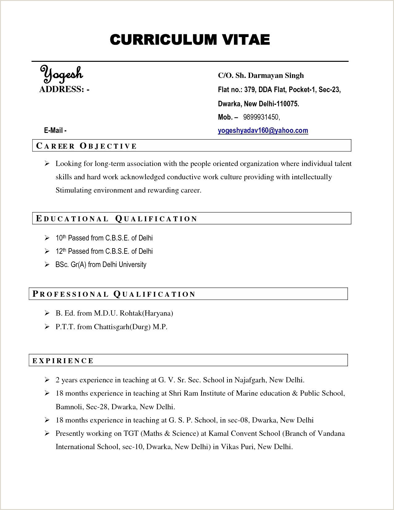 Safety Officer Fresher Cv format Sap Basis Fresher Resume format Luxury 37 Sd within