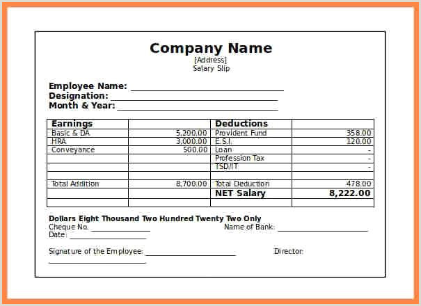 Salary Certificate Free Sample and 12 format for Salary Slip