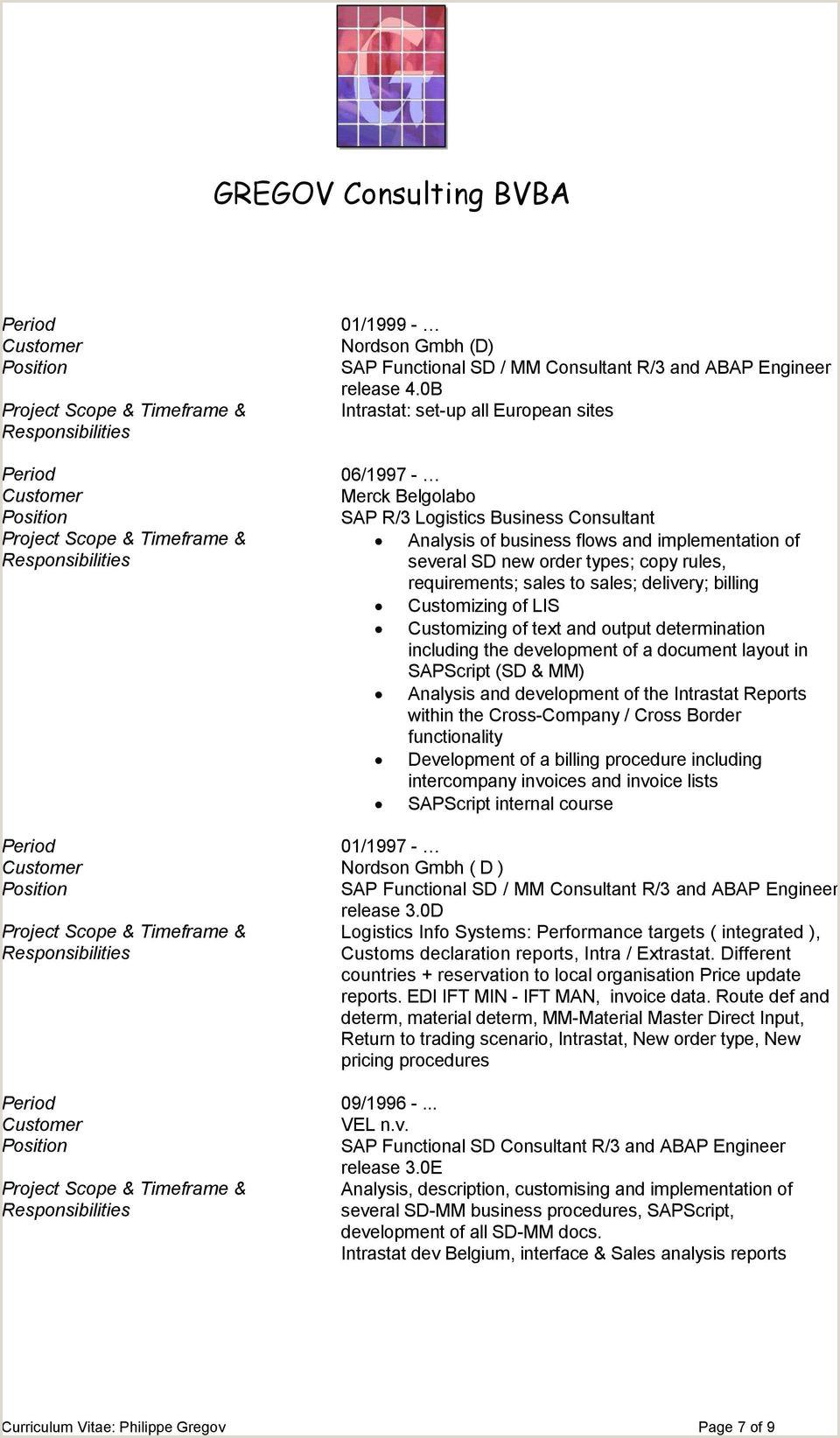 GREGOV Consulting BVBA Curriculum Vitae Philippe Gregov PDF
