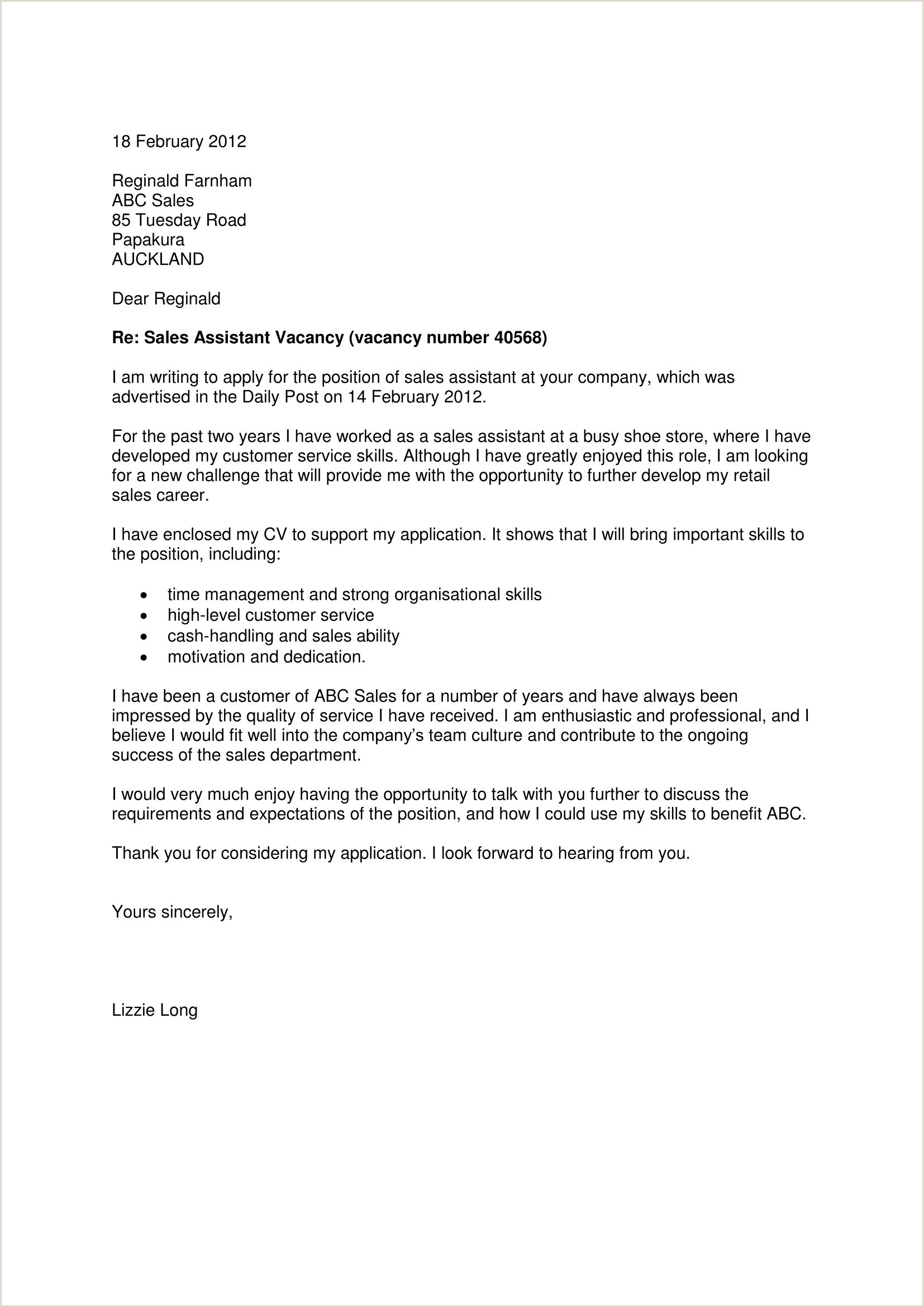 Sales Job Covering Letter Cover Letter for Sales Job Cover Letter for area Manager