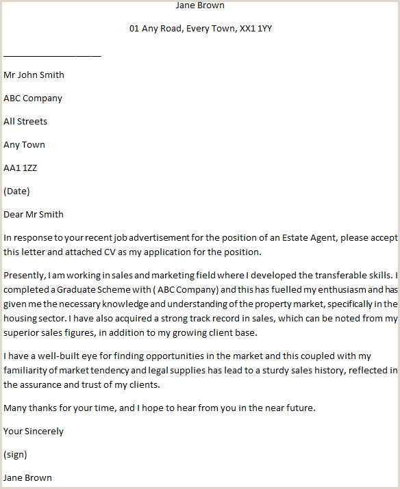 Sales Job Covering Letter Estate Agent Cover Letter Example Learnist