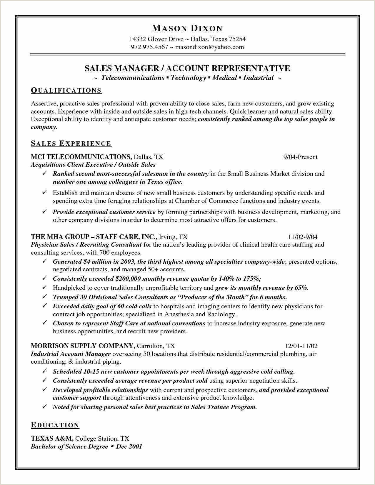 Sales Representative Resume Example Unique Sales Representative Resume
