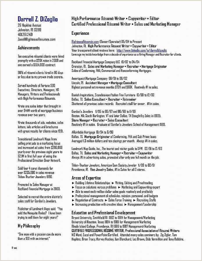 12 13 managerial resume sample