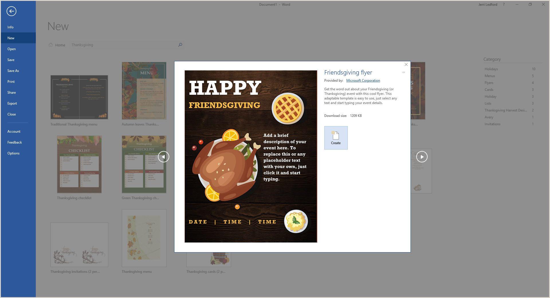 Salon Menu Templates Microsoft Word Best Free Thanksgiving Templates for Microsoft Word