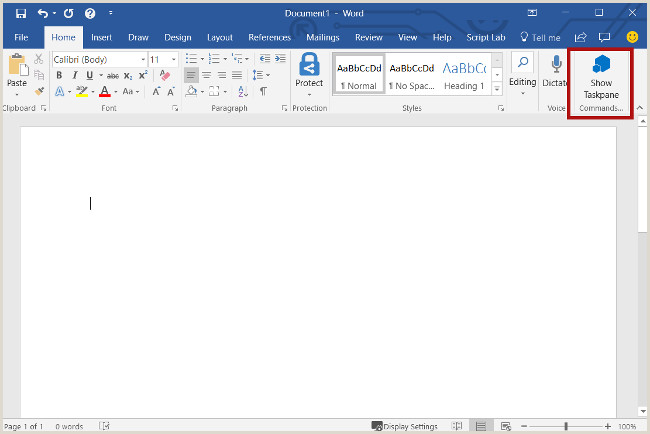 Build your first Word task pane add in fice Add ins