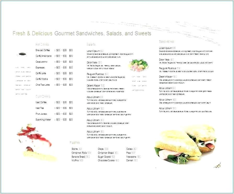 Salon Menu Templates Microsoft Word Cafe Menu Template Free Word format Cafeteria Templates Food