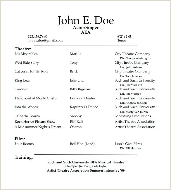 acting resume with no experience – thrifdecorblog