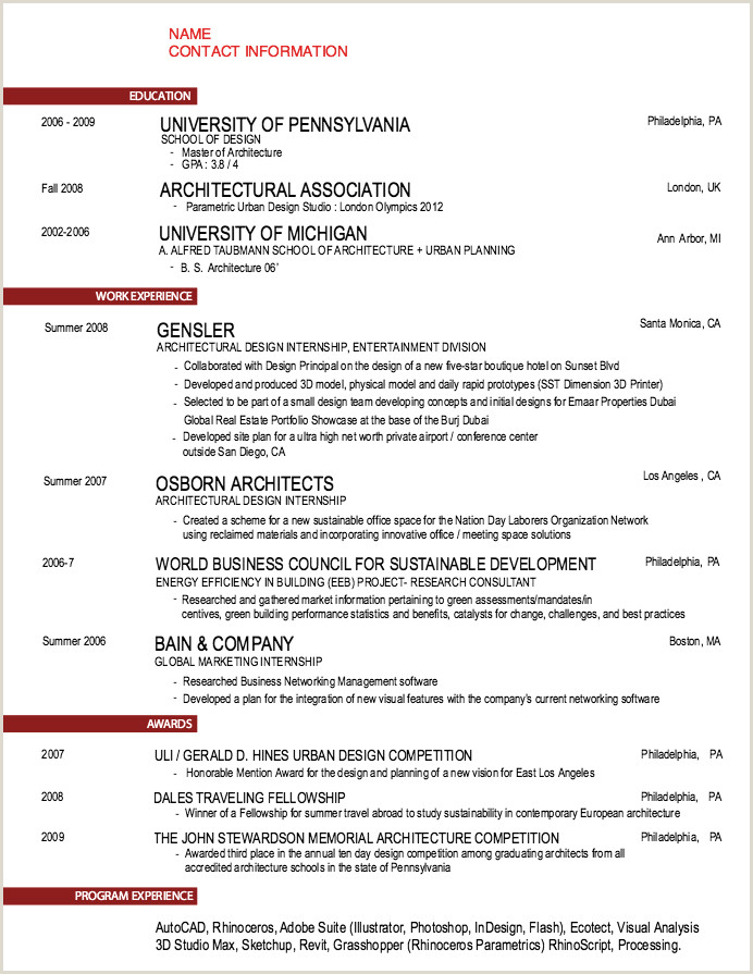 Sample Architecture Resumes Pin by Ririn Nazza On Free Resume Sample