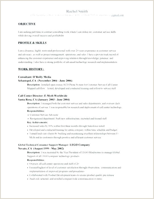 Call Center Resume Objective Free Job Objective Examples