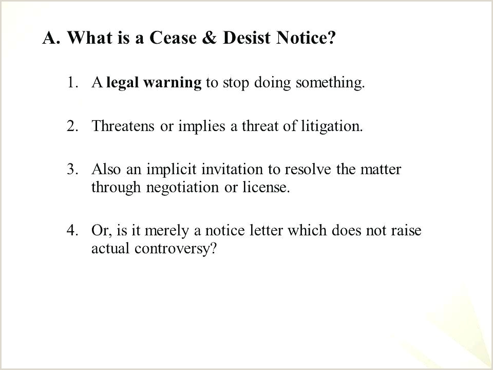 Cease And Desist Letter Example Best Contact Harassment Nz